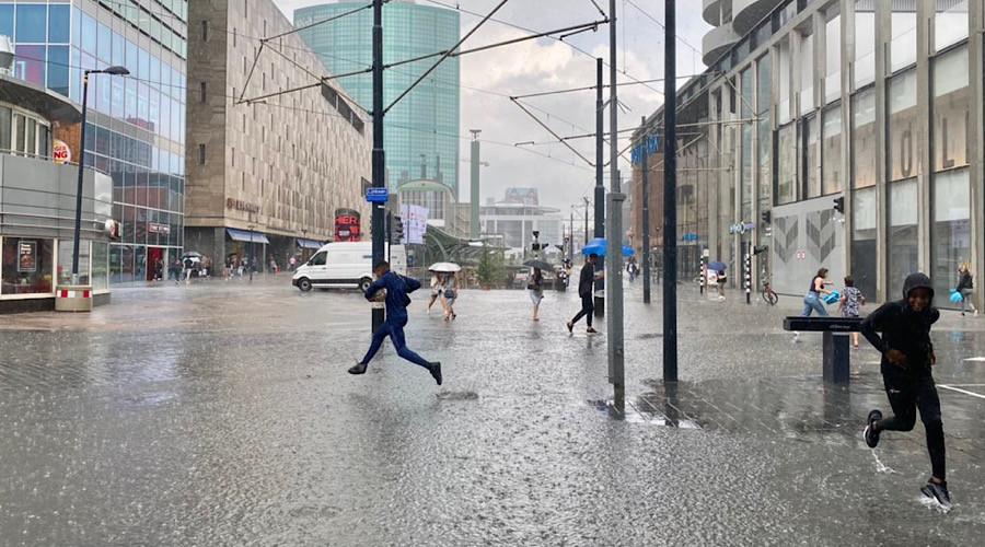 Koopgoot wordt even 'Koopsloot' in binnenstad Rotterdam