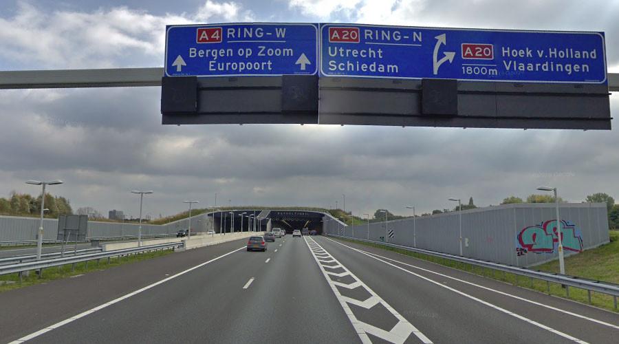 Rijksweg A4 bij Delft weer vrij na kettingbotsing