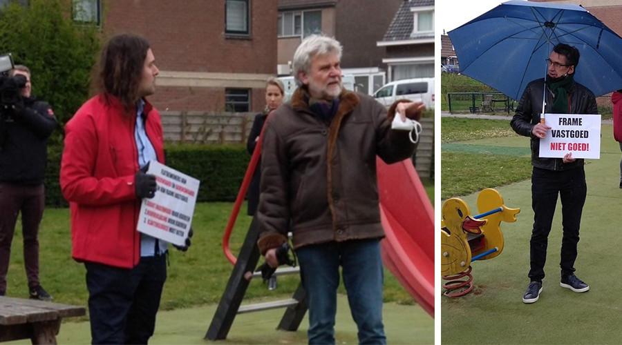 Flatbewoners IJsselmonde in protest tegen Frame Vastgoed