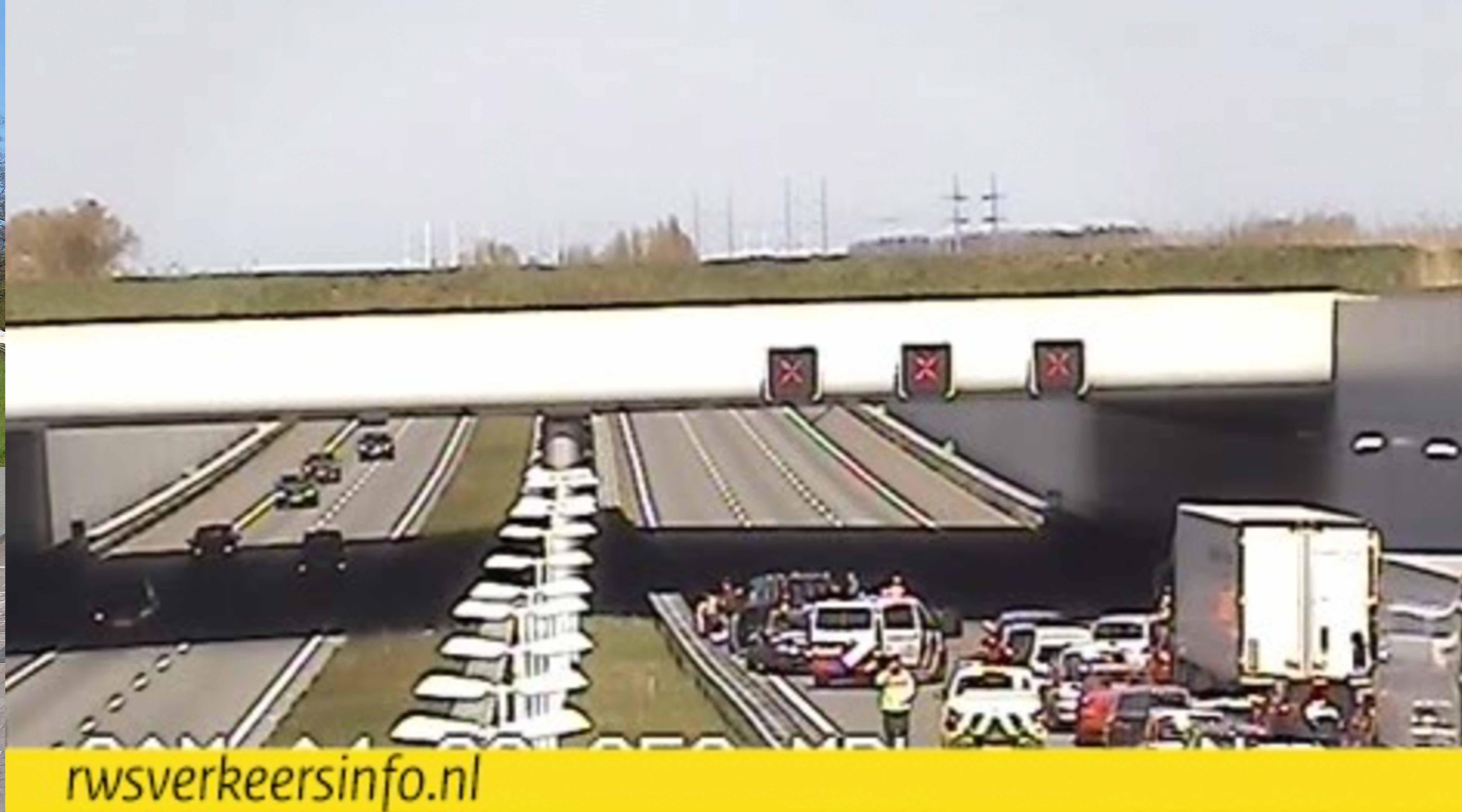Ongeval op A4 naar Den Haag; A13 ook dicht (werkzaamheden)