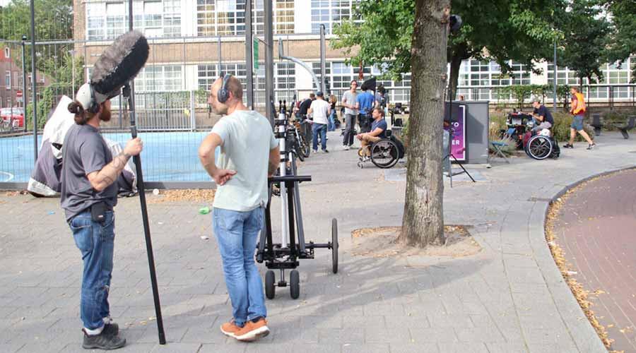 Filmopnamen In Narcissenstraat; Lange Hilleweg even dicht