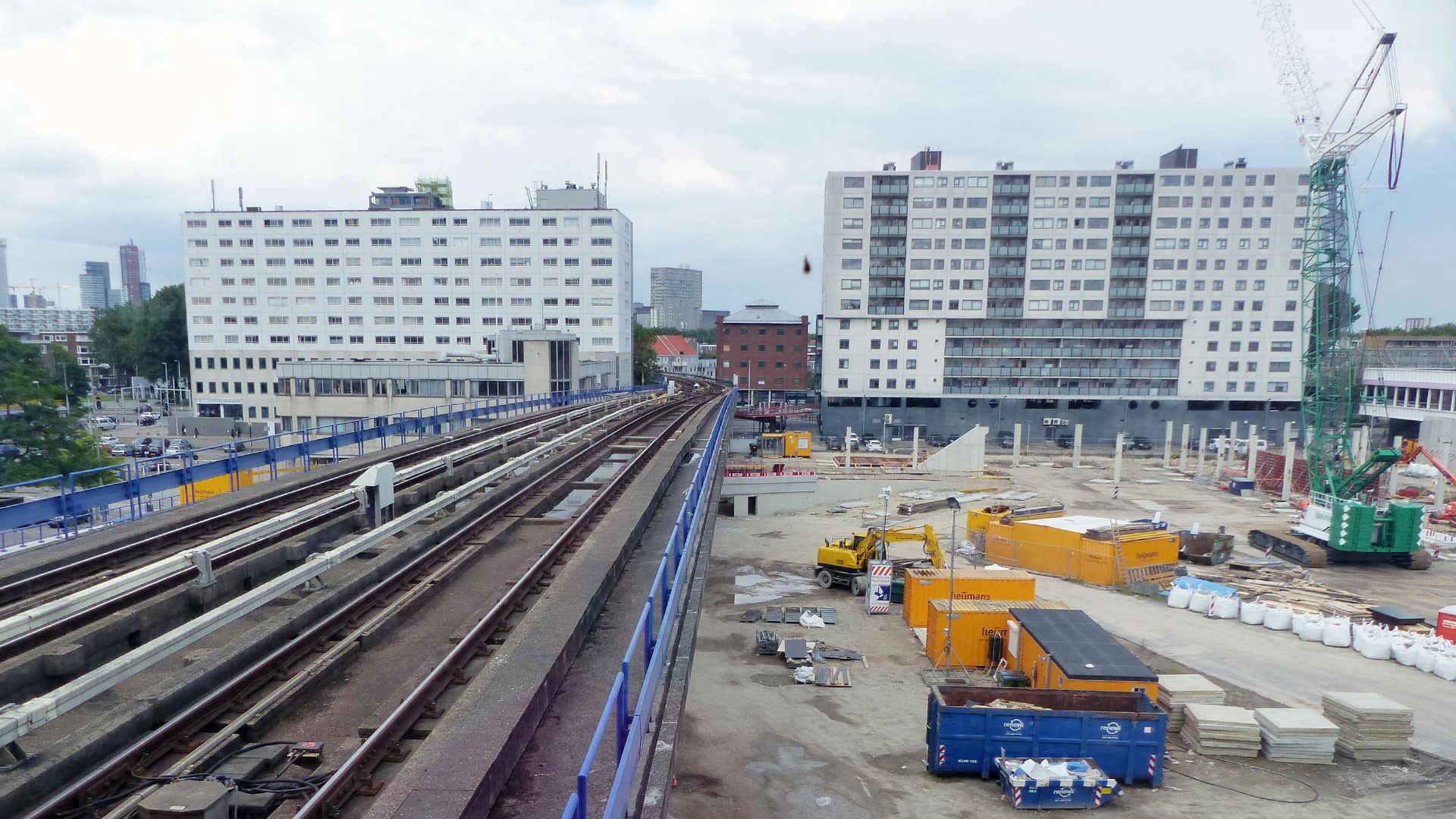 Zuidplein is grote bouwplaats voor uitbreiding winkelcentrum